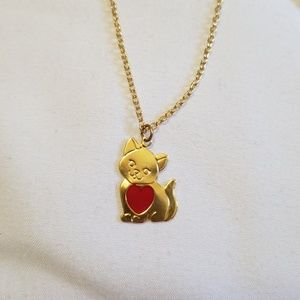 Jewelry - 3 for $20 Gold Tone Cat Heart Necklace